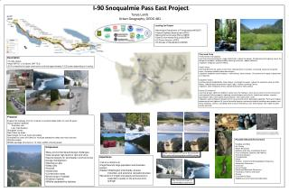 I-90 Snoqualmie Pass East Project