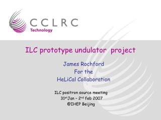 ILC prototype undulator  project