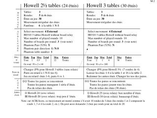 Howell 2½ tables  (24 étuis)