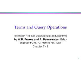 Terms and Query Operations