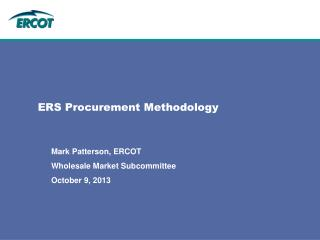 ERS Procurement Methodology