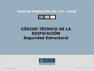 CÓDIGO TÉCNICO DE LA EDIFICACIÓN Seguridad Estructural