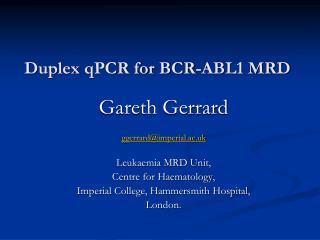 Duplex qPCR for BCR-ABL1 MRD