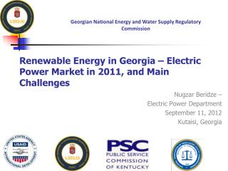 Renewable Energy in Georgia � Electric Power Market in 2011, and Main Challenges