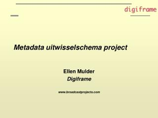 Metadata uitwisselschema project