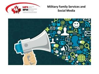 Military Family Services and Social Media