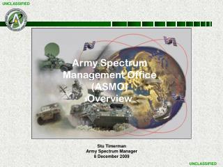 Stu Timerman Army Spectrum Manager 8 December 2009