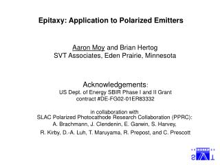 Epitaxy: Application to Polarized Emitters