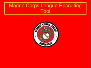 Marine Corps League Recruiting Tool