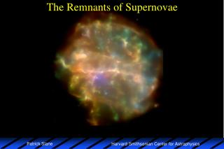 The Remnants of Supernovae