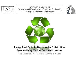Energy Cost Optimization in Water Distribution  Systems Using Markov Decision Processes