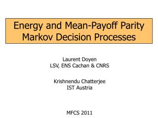 Energy and Mean-Payoff Parity Markov Decision Processes