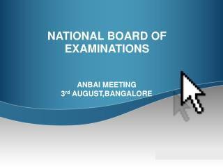 NATIONAL BOARD OF EXAMINATIONS