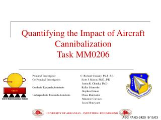 Quantifying the Impact of Aircraft Cannibalization  Task MM0206