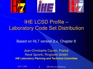 IHE LCSD Profile – Laboratory Code Set Distribution