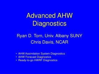 Advanced AHW Diagnostics