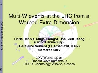 Multi-W events at the LHC from a Warped Extra Dimension