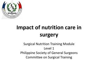 Impact of nutrition care in surgery
