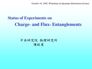 Status of Experiments on       Charge- and Flux- Entanglements