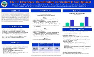 The UF Experience: Breastfeeding Curriculum Is Not Optional
