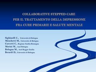 Collaborative stepped care  per il trattamento della depressione