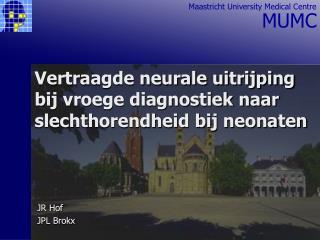 Vertraagde neurale uitrijping bij vroege diagnostiek naar slechthorendheid bij neonaten