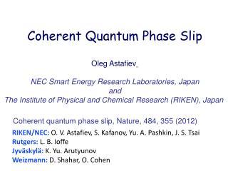 Coherent Quantum Phase Slip