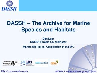DASSH – The Archive for Marine Species and Habitats