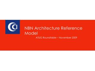 NBN Architecture Reference Model