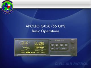 APOLLO GX50/55 GPS Basic Operations