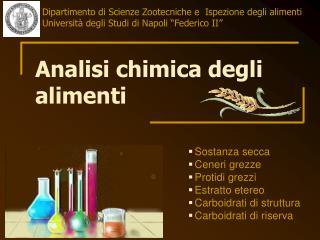 Analisi chimica degli alimenti