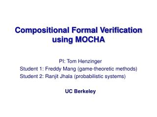 Compositional Formal Verification using MOCHA