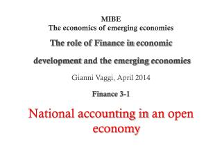 MIBE The economics of emerging economies