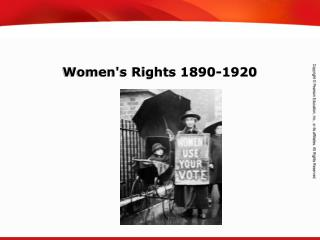 Women's Rights 1890-1920