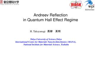 Andreev Reflection  in Quantum Hall Effect Regime