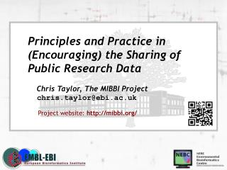 Principles and Practice in (Encouraging) the Sharing of  Public Research Data
