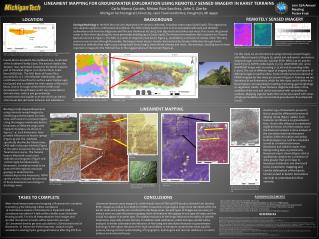 LINEAMENT MAPPING FOR GROUNDWATER EXPLORATION USING REMOTELY SENSED IMAGERY IN KARST TERRAINS