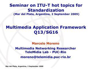 Multimedia Application Framework Q13/SG16
