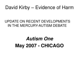 David Kirby – Evidence of Harm