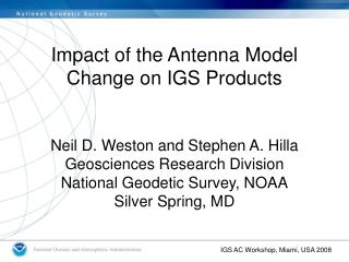 Impact of the Antenna Model Change on IGS Products