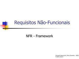 Requisitos Não-Funcionais