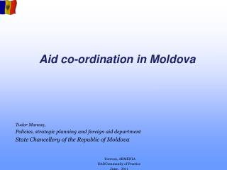 Aid co-ordination in Moldova