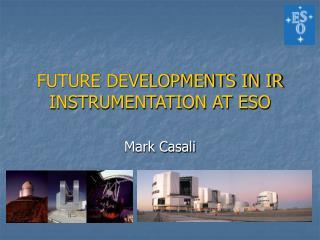 FUTURE DEVELOPMENTS IN IR INSTRUMENTATION AT ESO