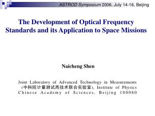 The Development of Optical Frequency Standards and its Application to Space Missions