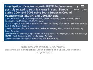 Space Research Institute, Graz, Austria