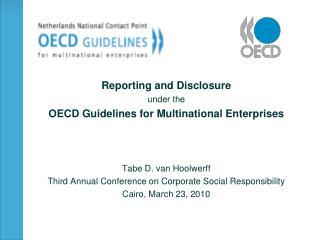 Reporting and Disclosure  under the OECD Guidelines for Multinational Enterprises