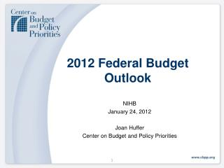 2012 Federal Budget Outlook