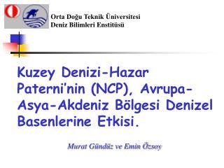Kuzey Denizi-Hazar Paterni'nin (NCP), Avrupa-Asya-Akdeniz Bölgesi Denizel Basenlerine Etkisi.