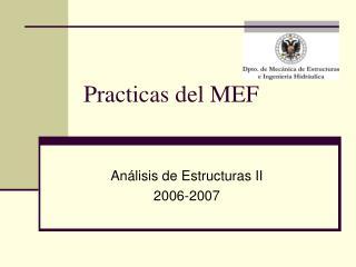 Practicas del MEF
