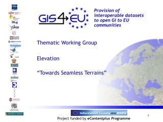 Provision of interoperable datasets to open GI to EU communities